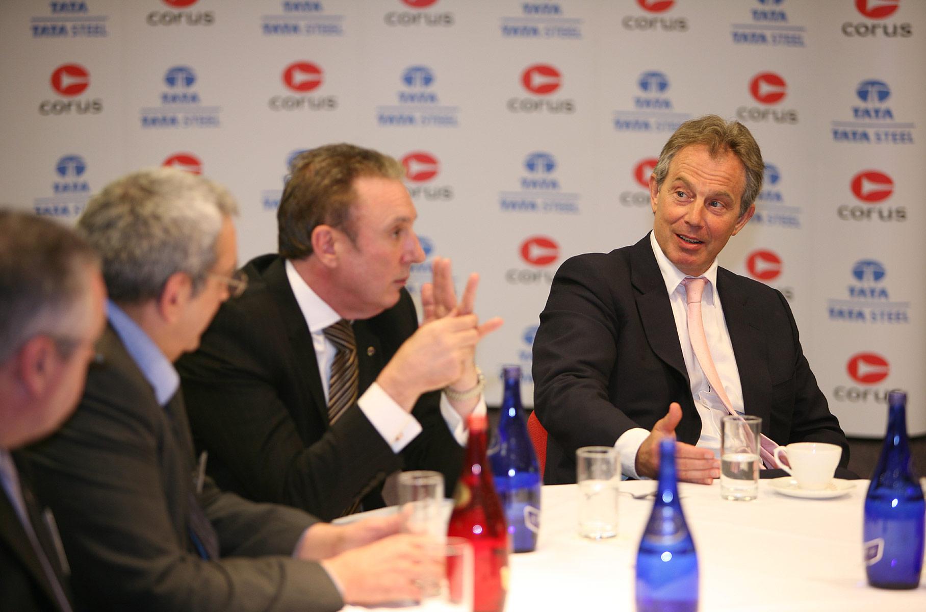 PM Tony Blair Site Visit / Tata / Corus Steel