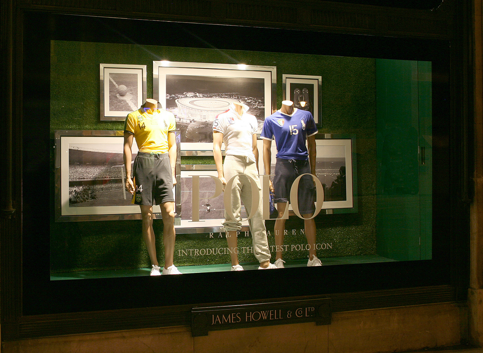 Polo Ralph Lauren USA Football World Cup Window Display