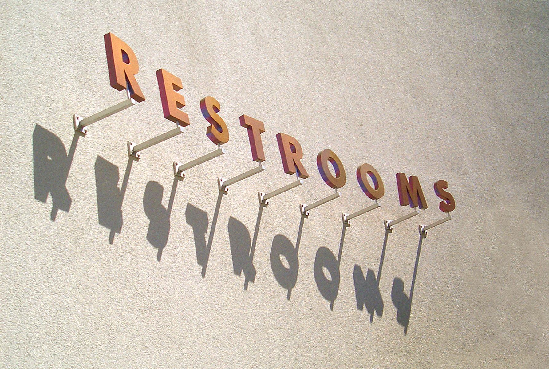 Restrooms Sign, Florida