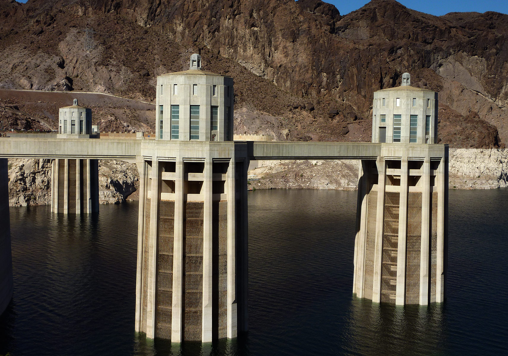 Hoover Dam intake towers, Arizona